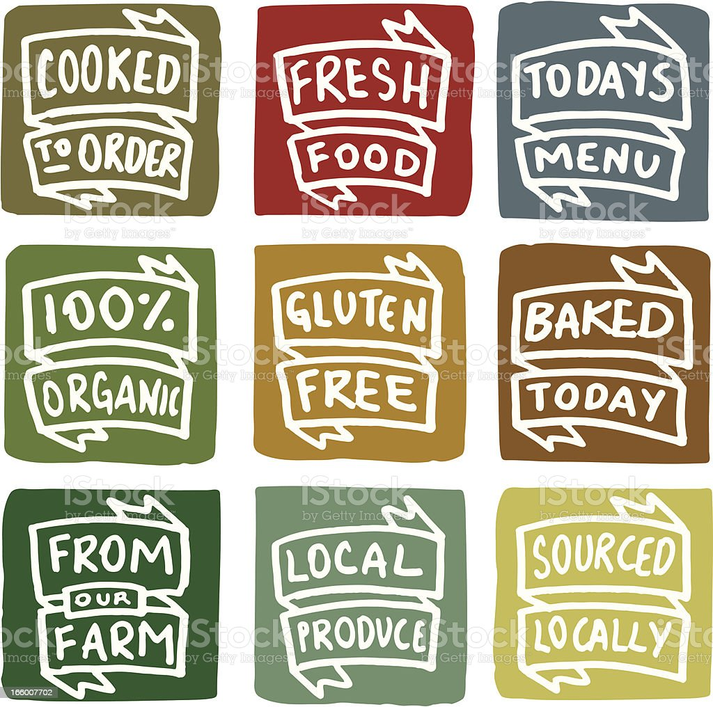 Cafe and restaurant icons block icon set vector art illustration