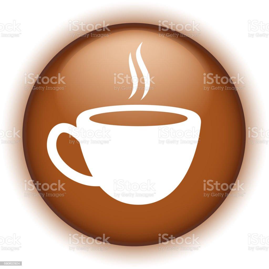 cafe button vector art illustration