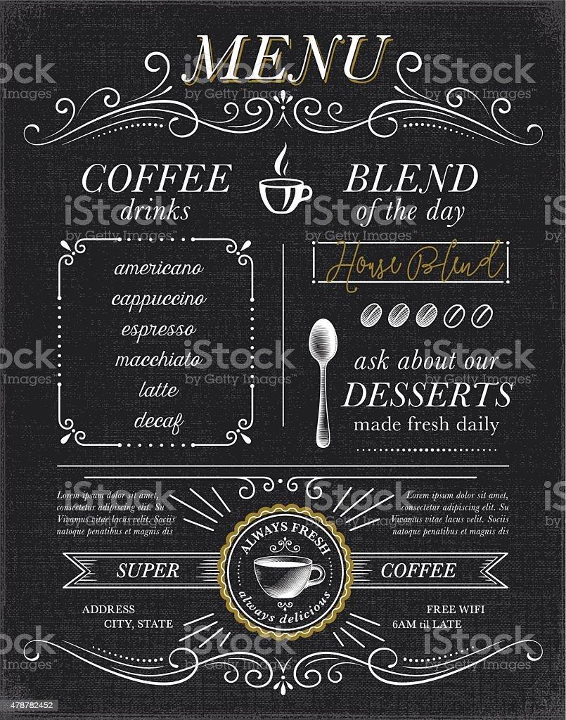 Cafe, Coffee Shop Menu Concept vector art illustration
