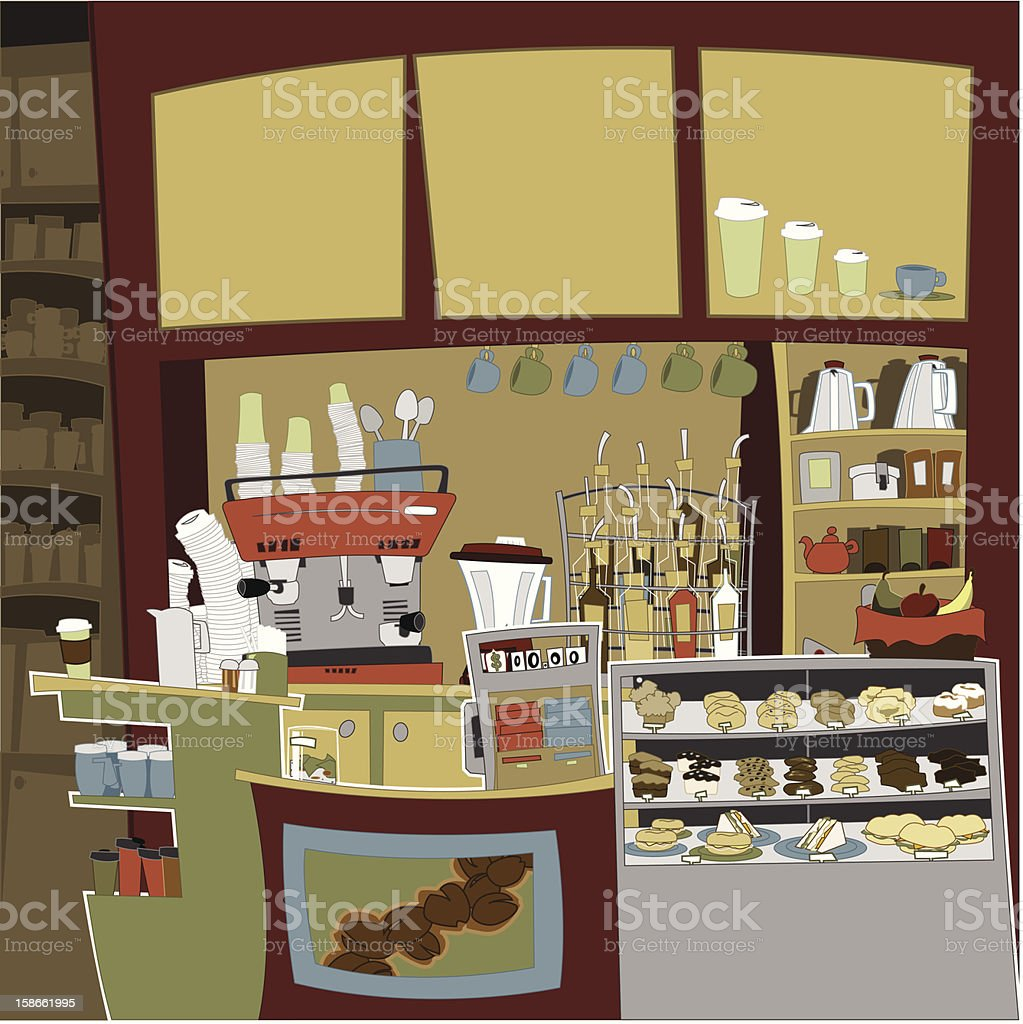 Cafe Counter royalty-free stock vector art