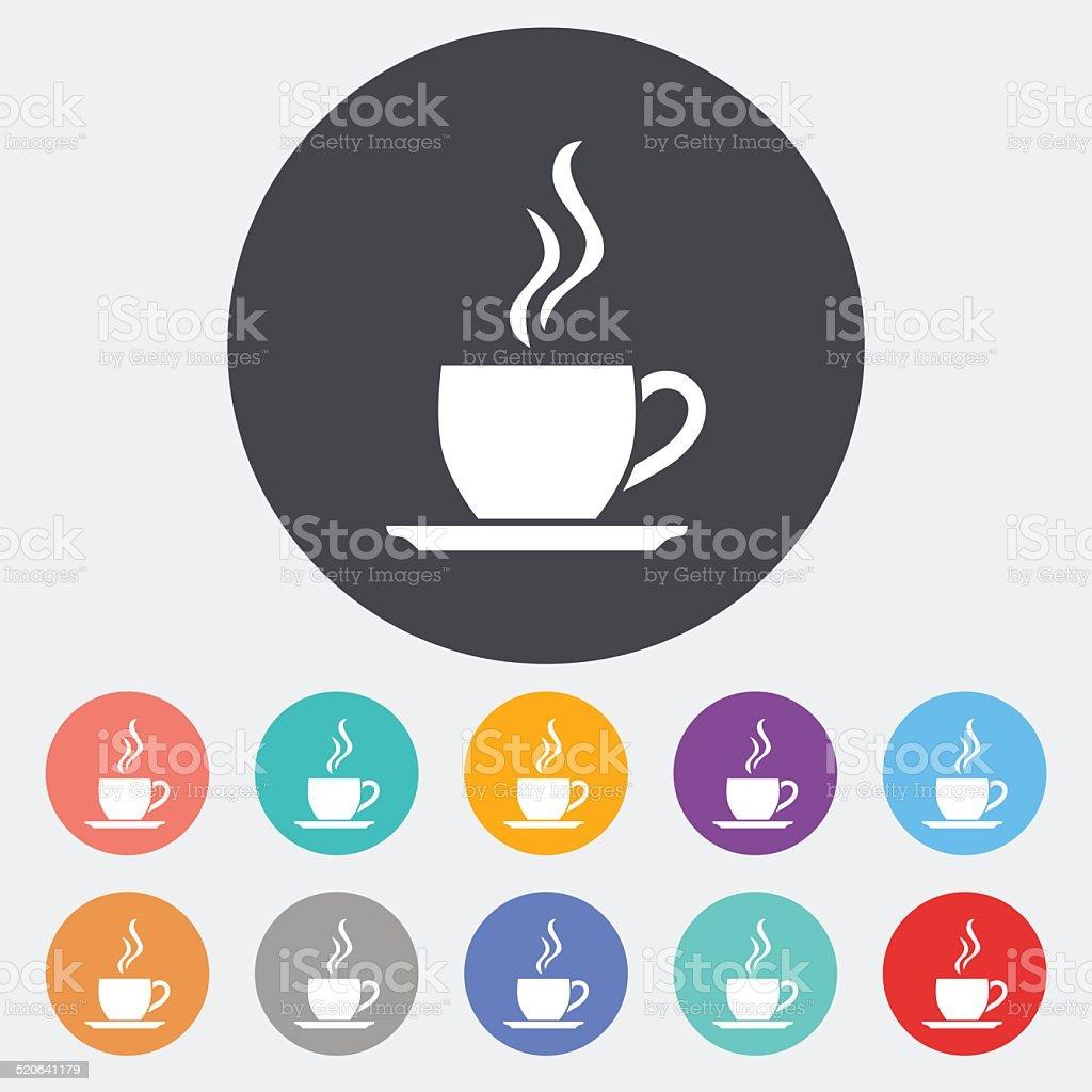 Cafe flat single icon. vector art illustration