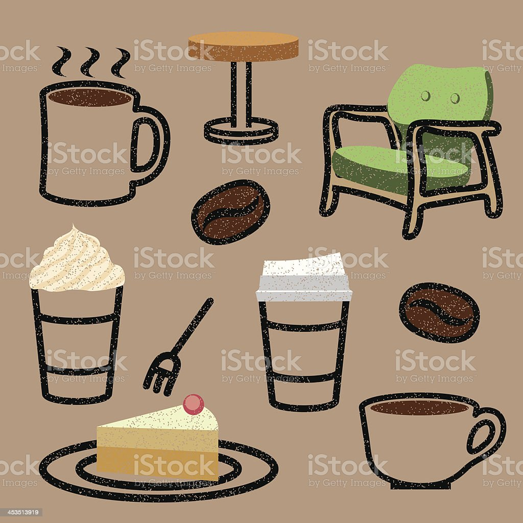 Cafe Icon Set royalty-free stock vector art