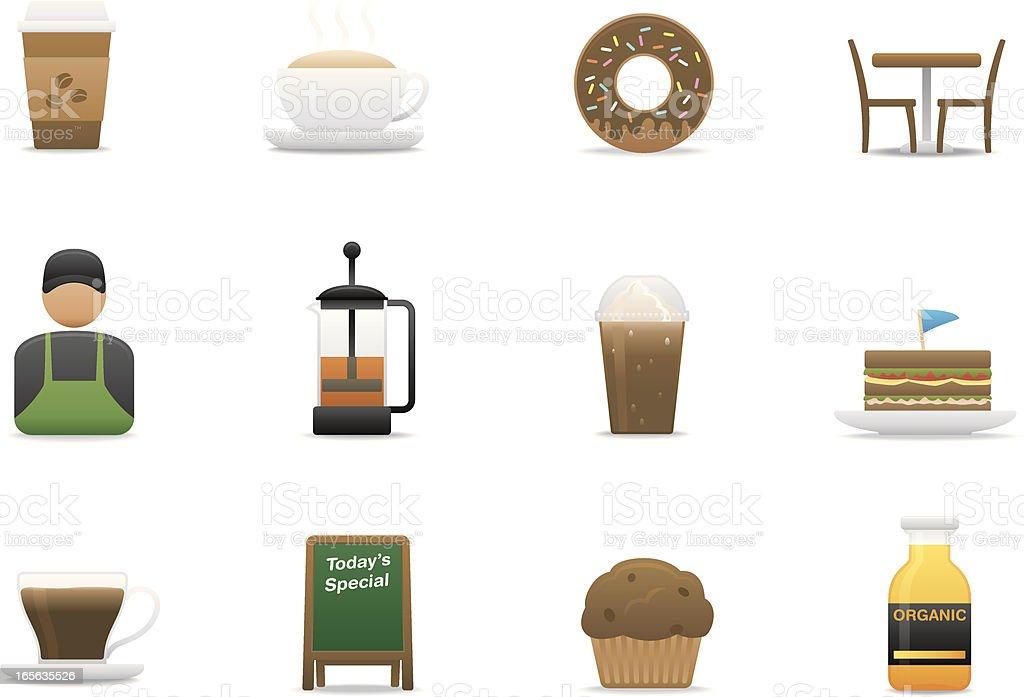 Cafe icons | Premium Matte series vector art illustration