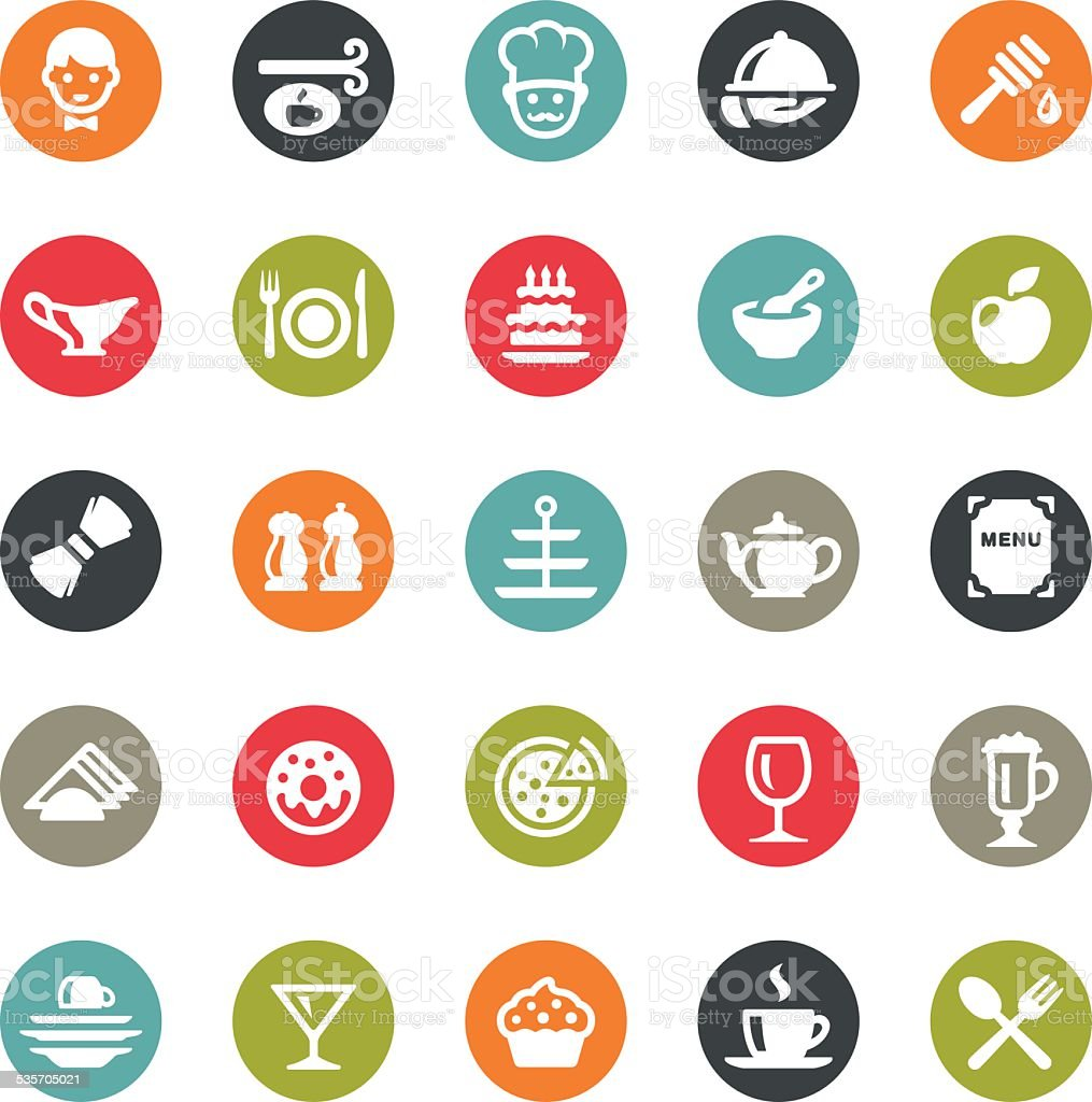 Cafe icons / Ringico series vector art illustration