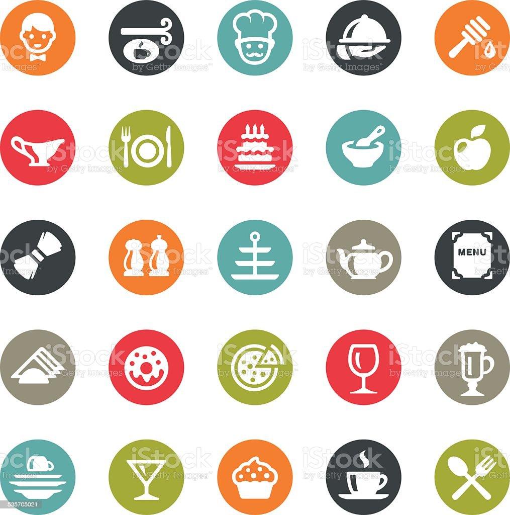 Cafe icons / Ringico series vector art illustration