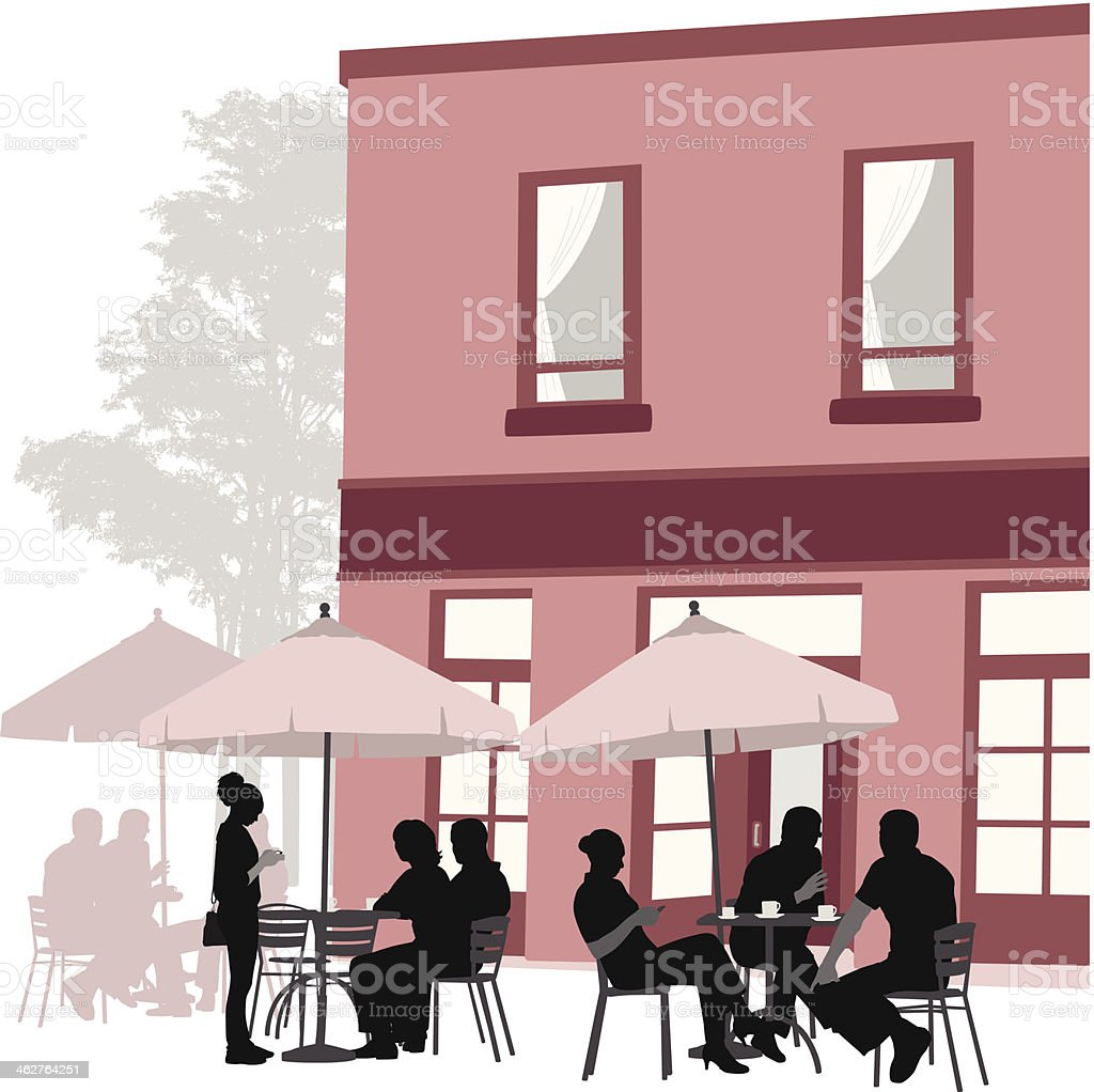 Cafe In Red royalty-free stock vector art