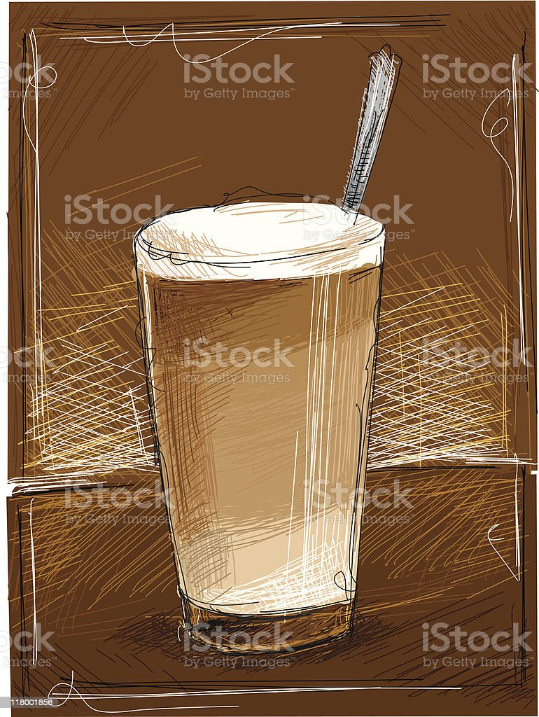 cafe latte royalty-free stock vector art
