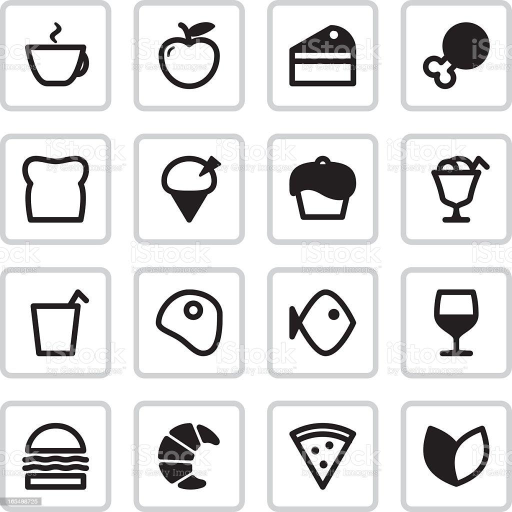 Cafe Menu Icons | Black vector art illustration
