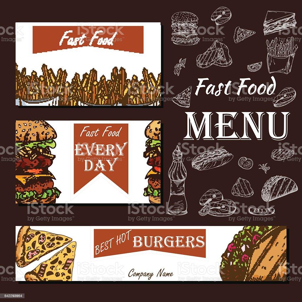 Men de cafeter a con dise o dibujado a mano restaurante for Disenos de menus para cafeterias