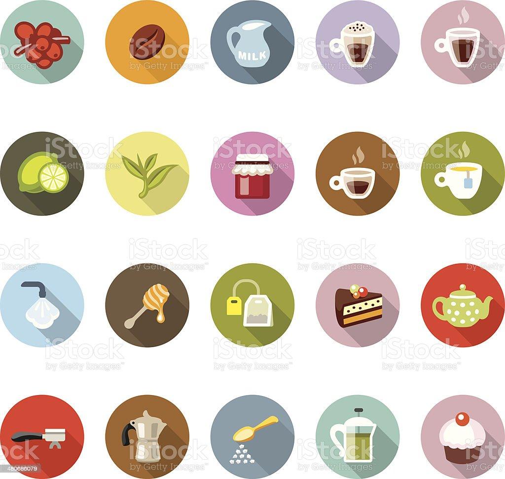 Cafe / Modico icons royalty-free stock vector art