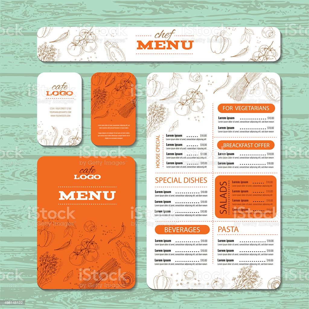 Cafe or restaurant identity template vector art illustration