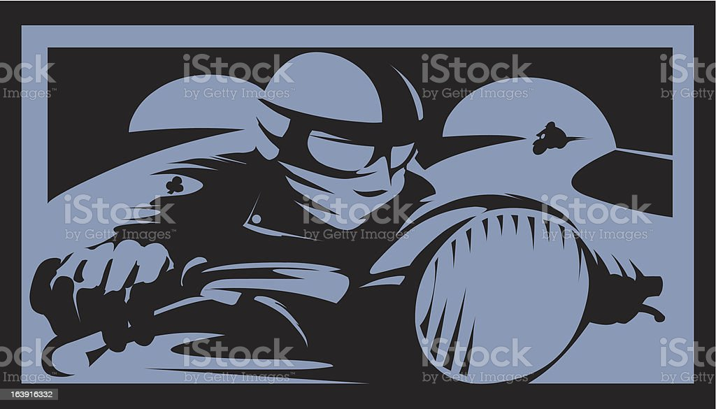 Cafe Racer royalty-free stock vector art
