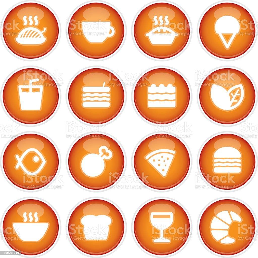 Cafe & Restaurant Menu Icons | 3D royalty-free stock vector art