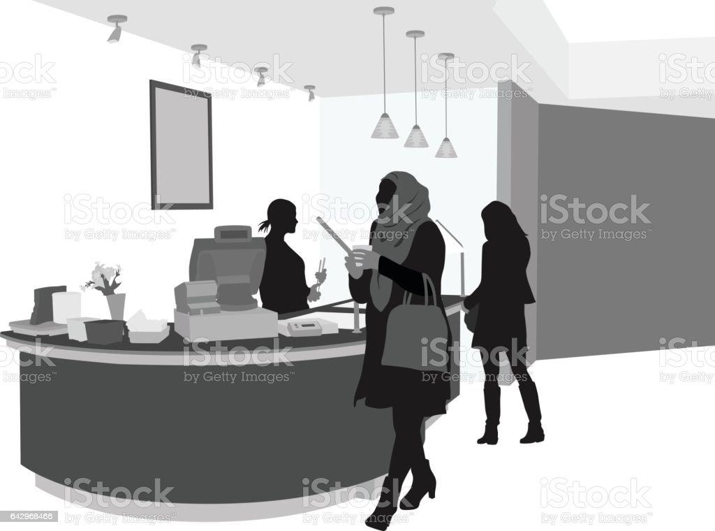 Cafe Service vector art illustration