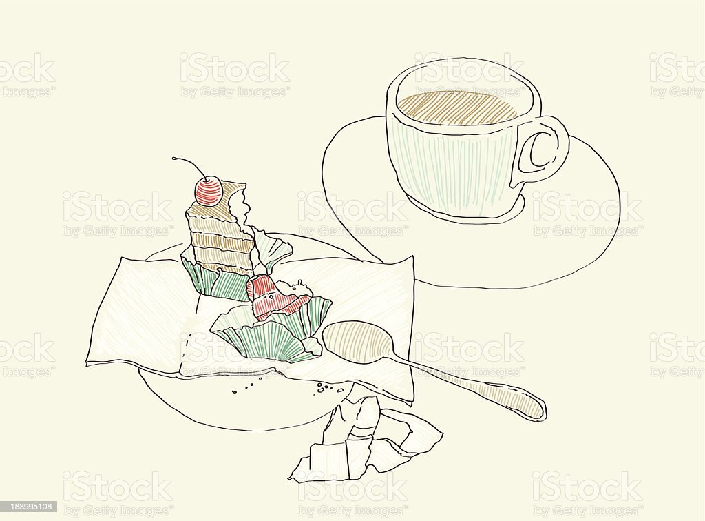 Cafe vector art illustration
