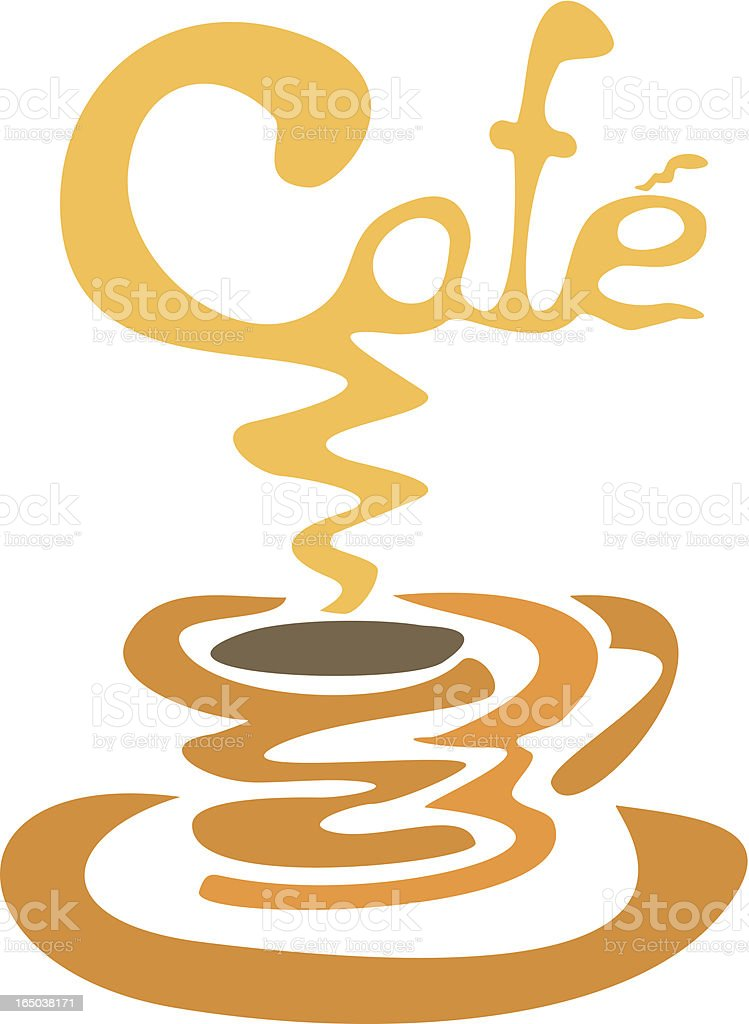 Cafe Window Sign or ? royalty-free stock vector art