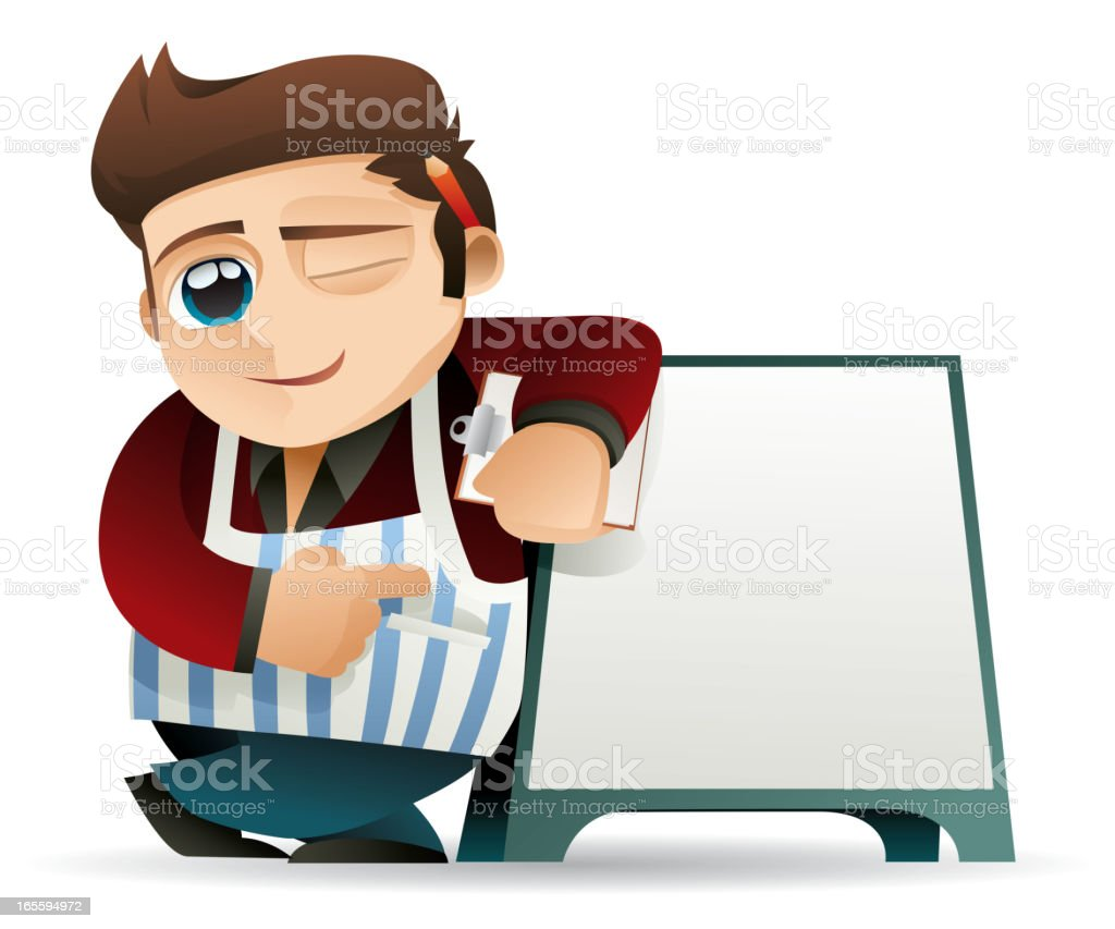 Cafe Worker - Today's Special royalty-free stock vector art