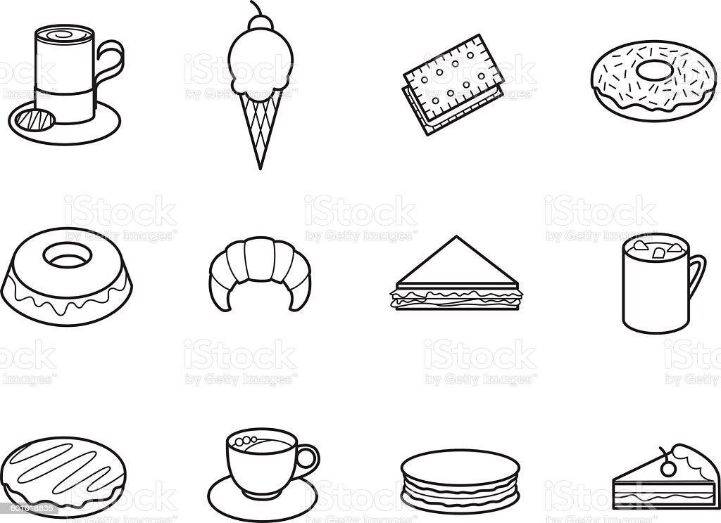 Cafeteria 1 vector art illustration