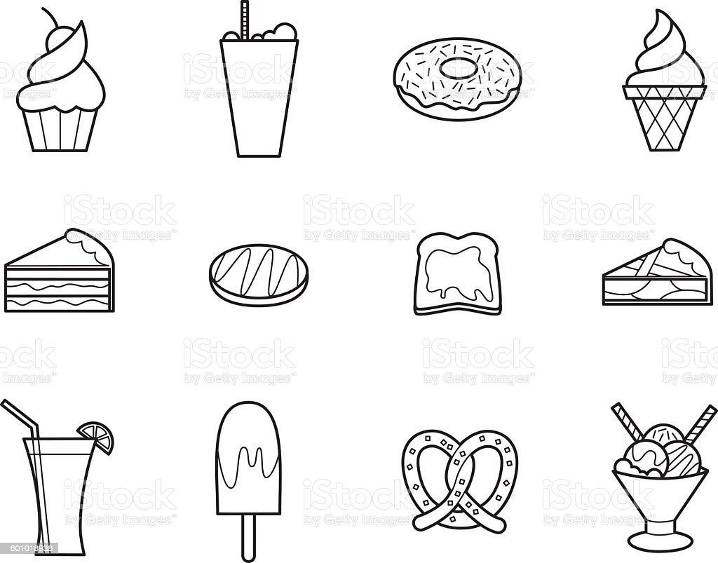 Cafeteria 2 vector art illustration