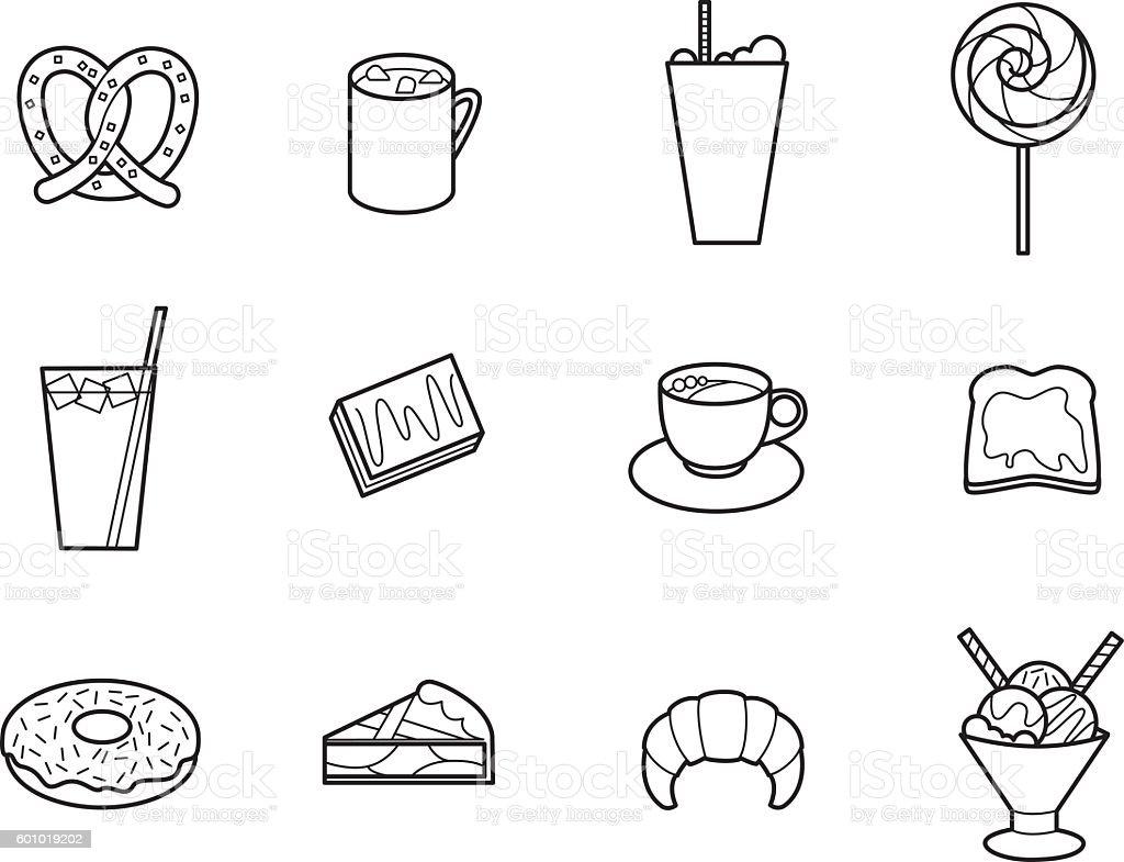 Cafeteria 4 vector art illustration