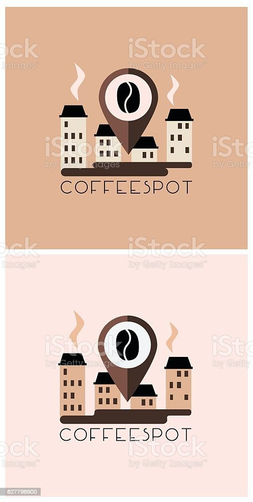 Cafeteria logo design concept,vector , isolated vector art illustration