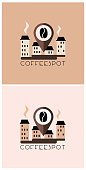 Cafeteria logo design concept,vector , isolated