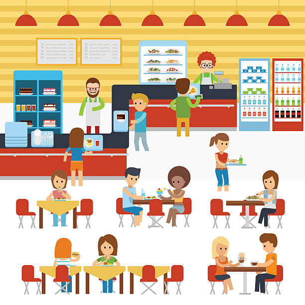 Cafeteria Clip Art, Vector Images & Illustrations