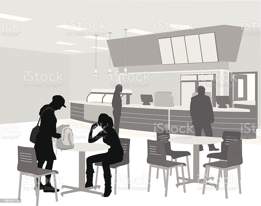 Cafeteria Vector Silhouette royalty-free stock vector art