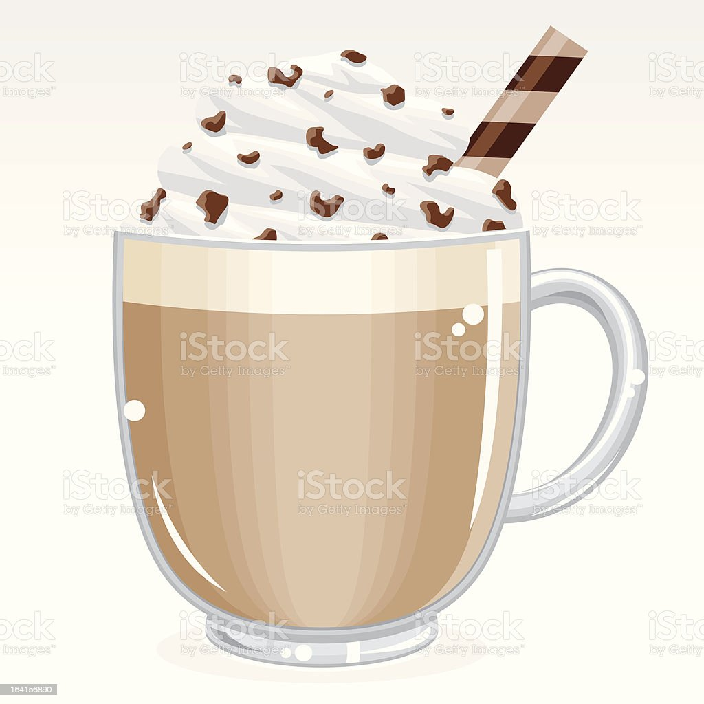Caffè latte royalty-free stock vector art
