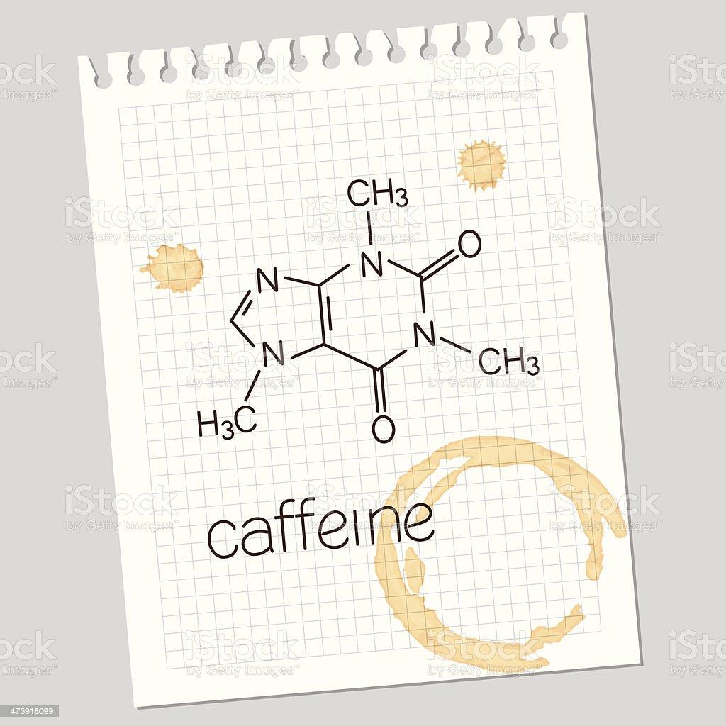 Caffeine vector art illustration
