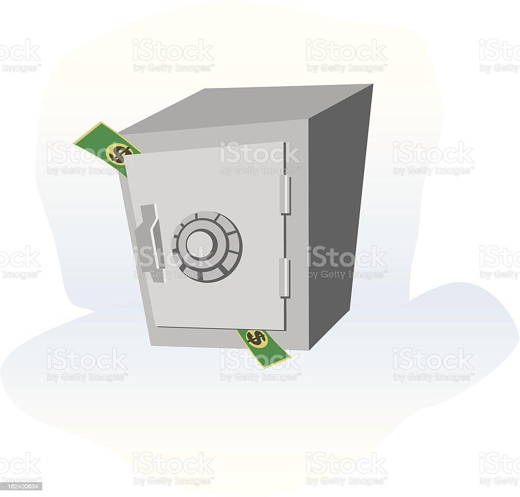 Caja Fuerte royalty-free stock vector art