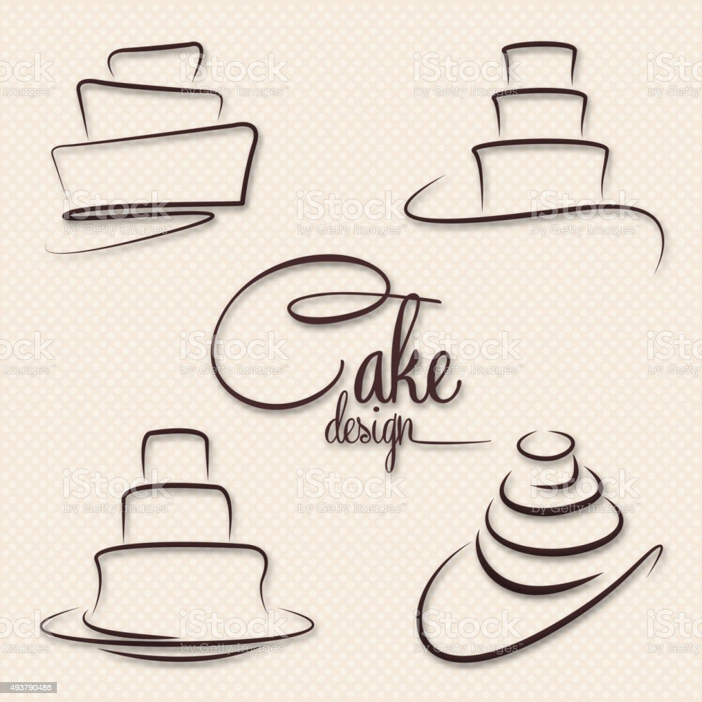 Cake Design Vector vector art illustration