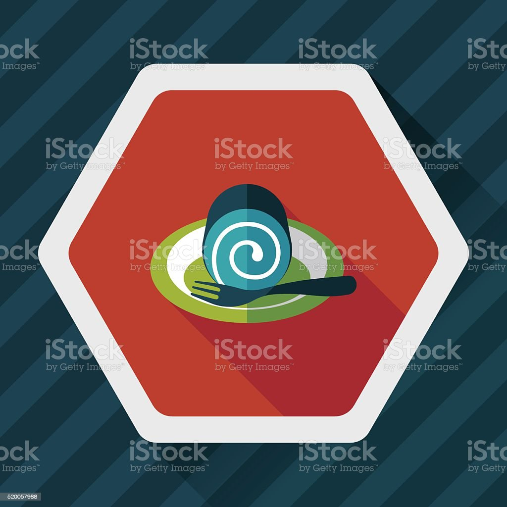 cake flat icon with long shadow,eps10 vector art illustration