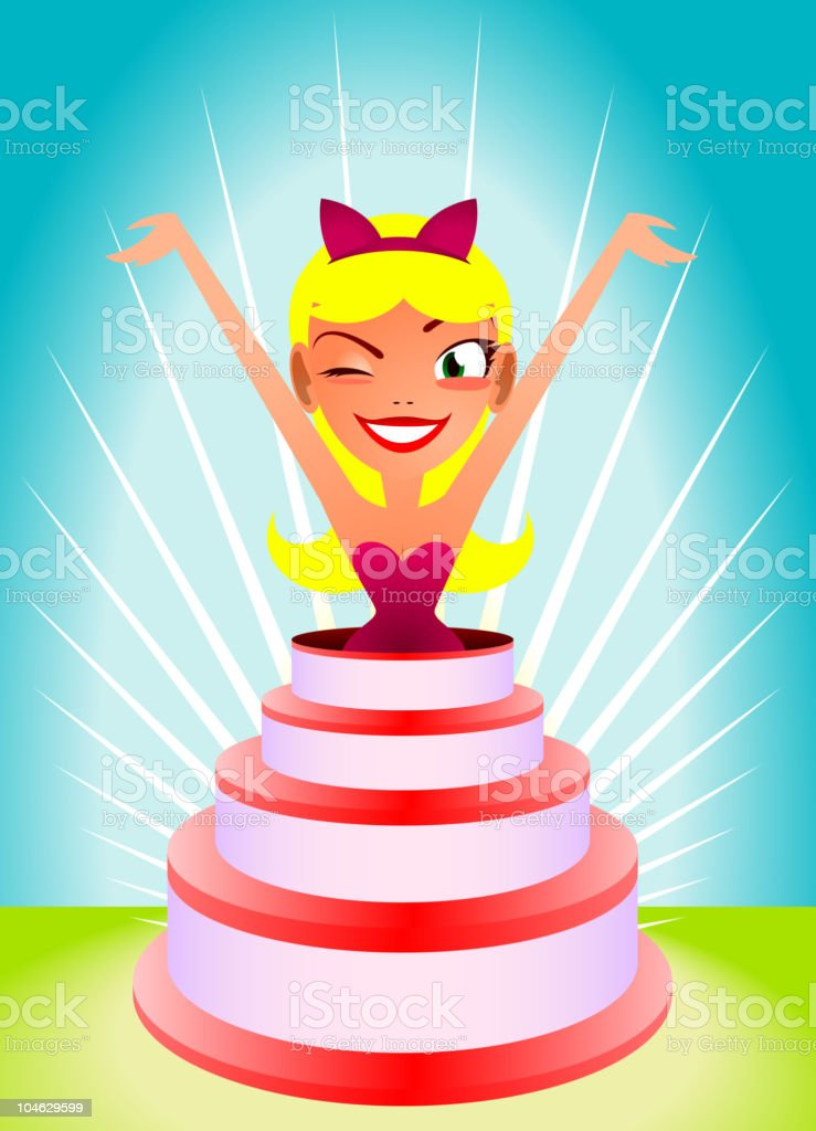 cake girl royalty-free stock vector art