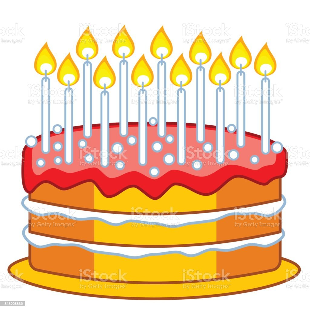 Cake icon illustration vector art illustration