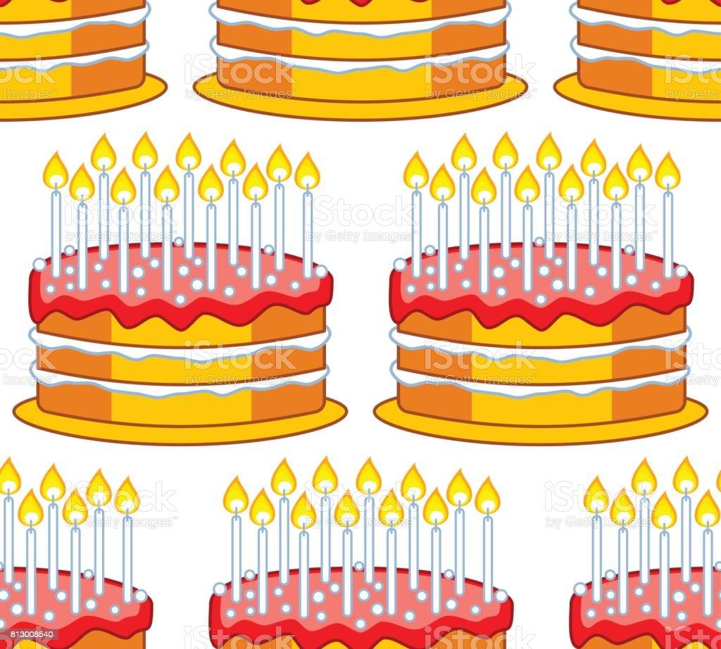 Cake icon pattern vector art illustration