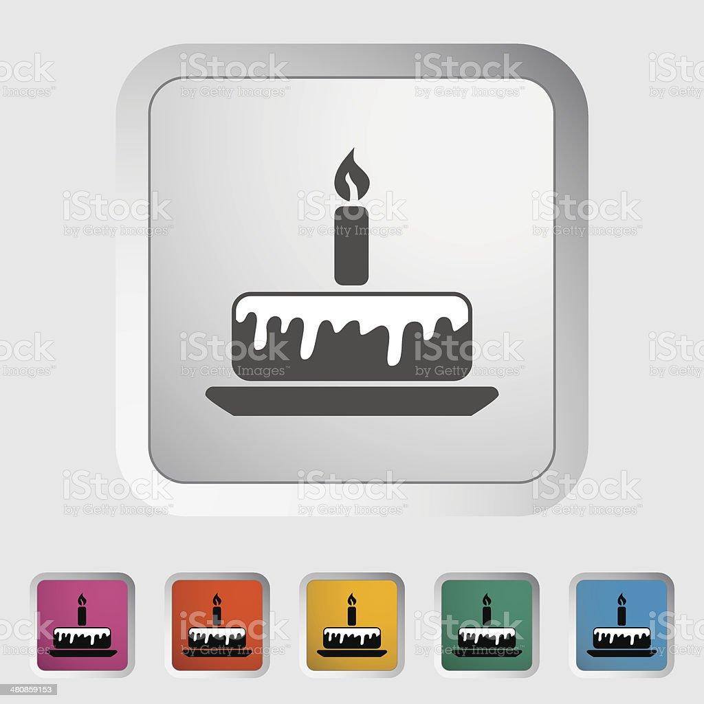 Cake icon royalty-free stock vector art