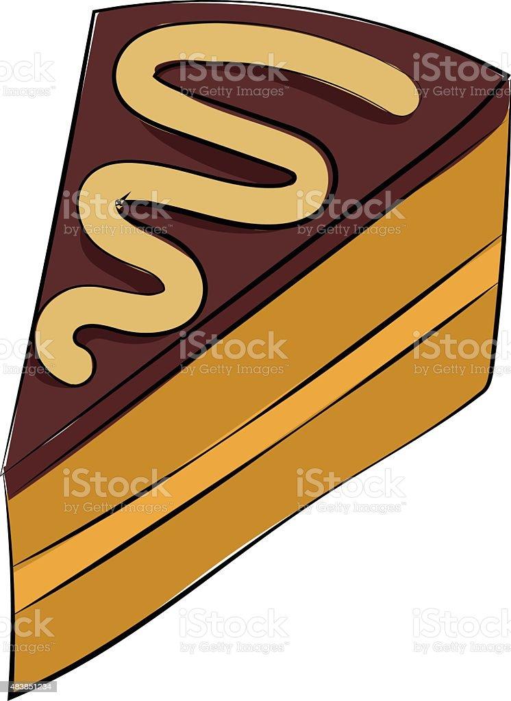 Cake Piece Hand Drawn Sketchy Vector Icon vector art illustration