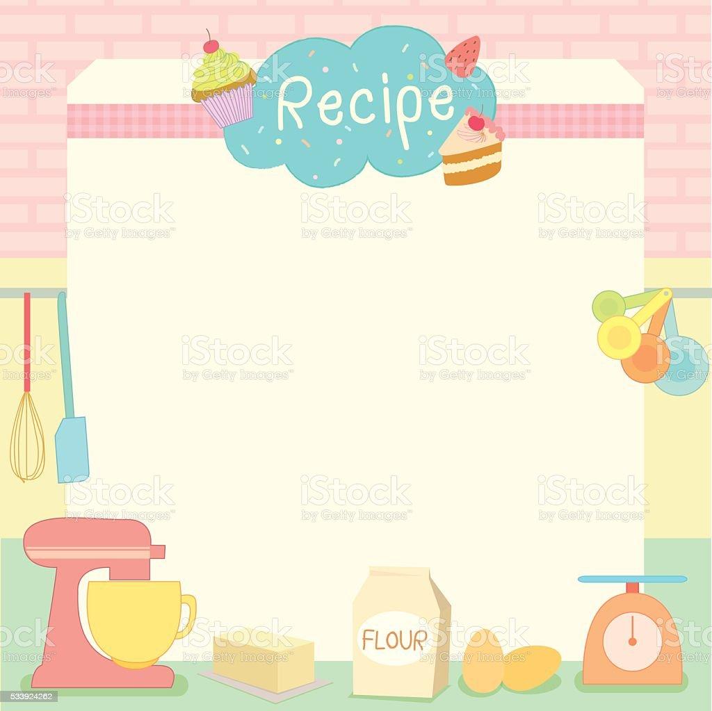 cake recipe vector art illustration