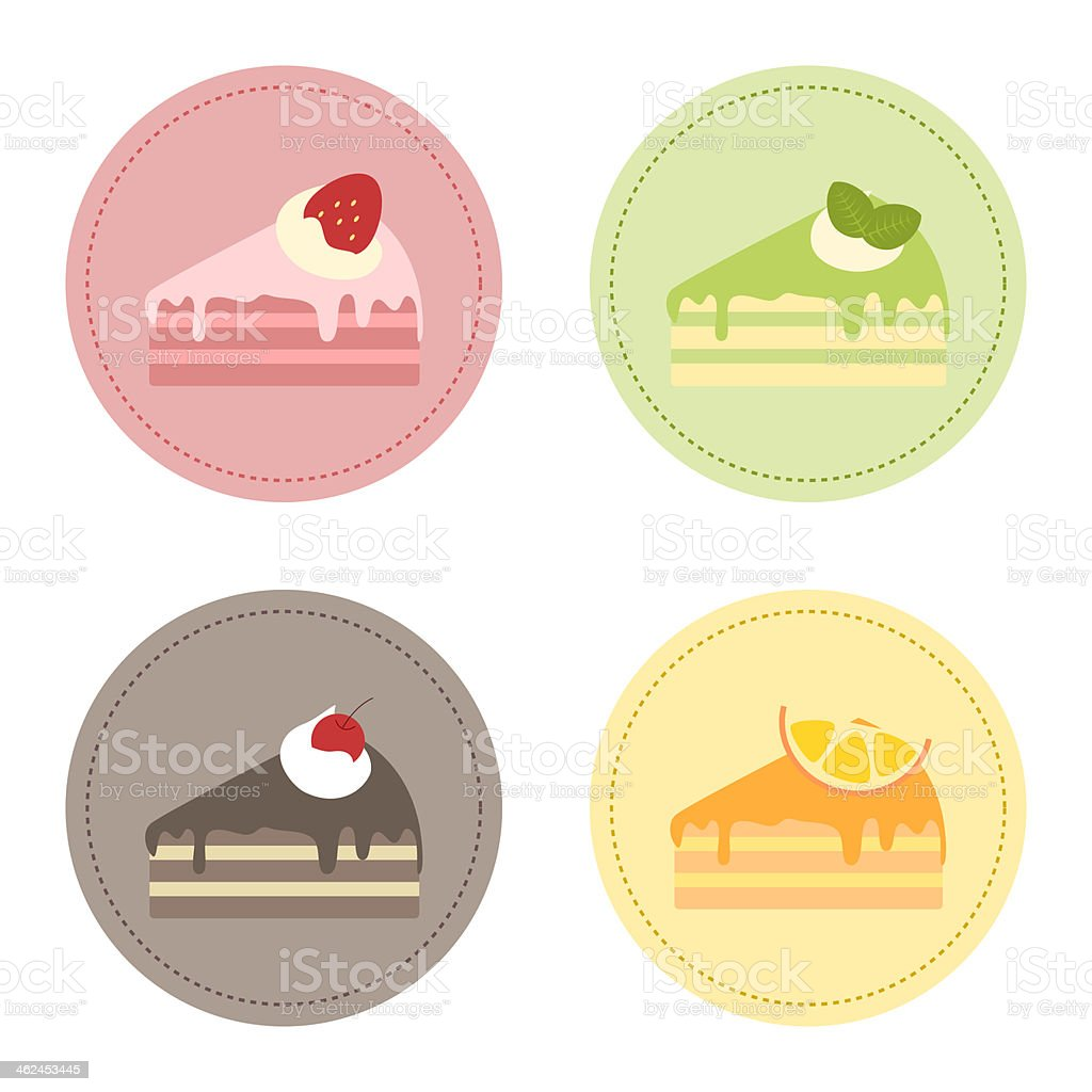 Cake Set royalty-free stock vector art