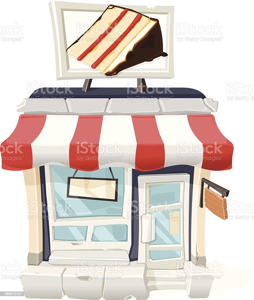 Cake Shop vector art illustration