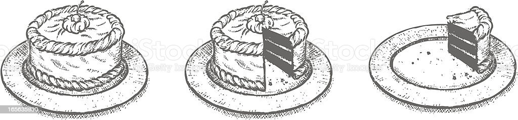 Cake Sketch vector art illustration