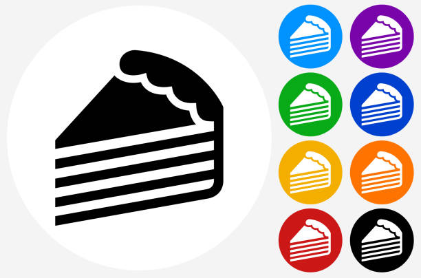 Slice Of Cake Clip Art, Vector Images & Illustrations - iStock