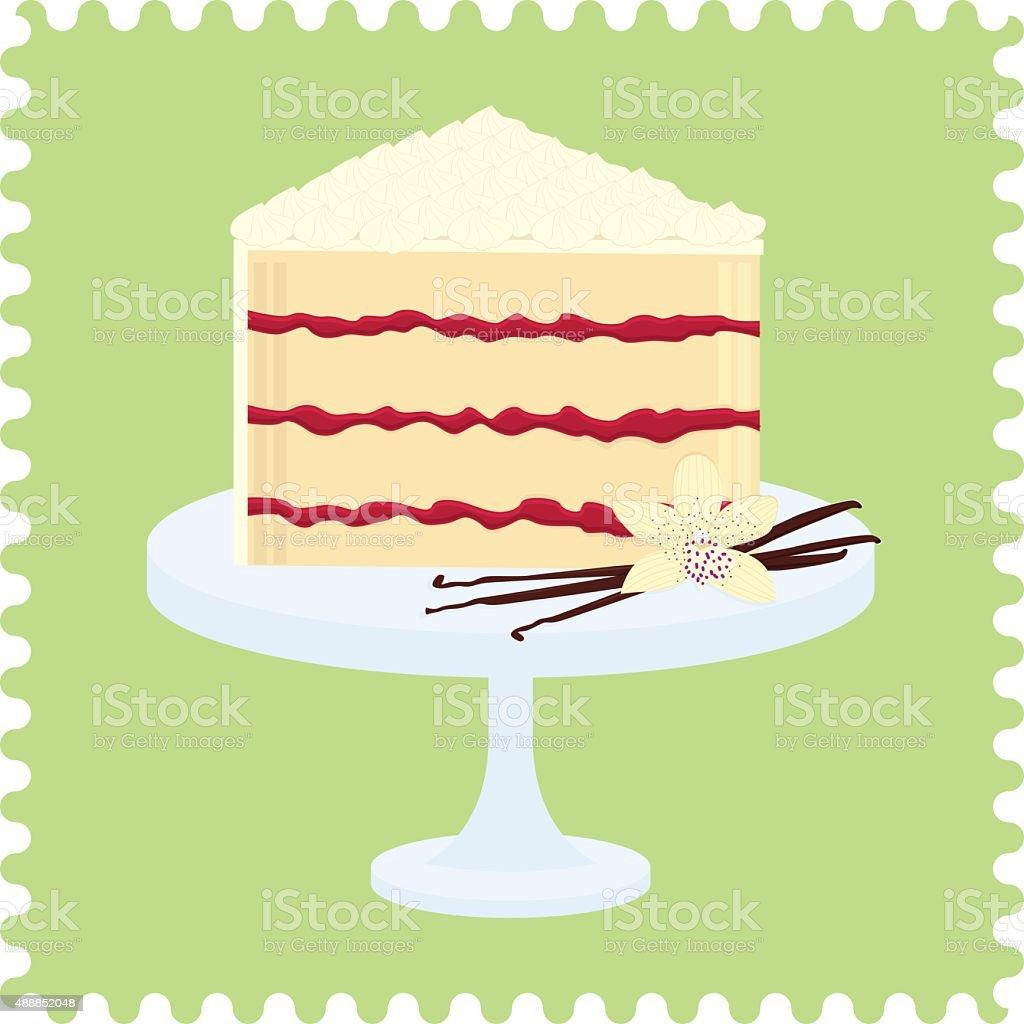 Cake slice vector art illustration