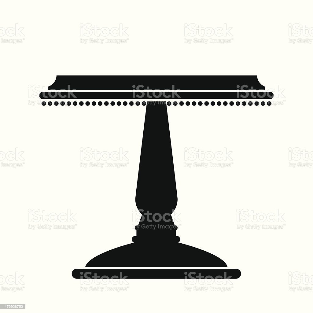 Cake Stand royalty-free stock vector art
