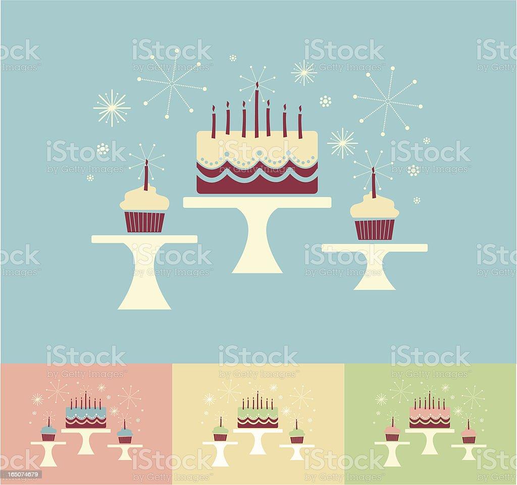 cake stands vector art illustration