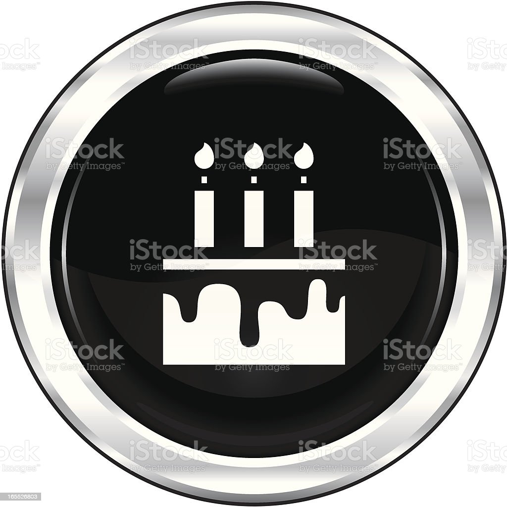 Cake | The Blackest Icon Series royalty-free stock vector art