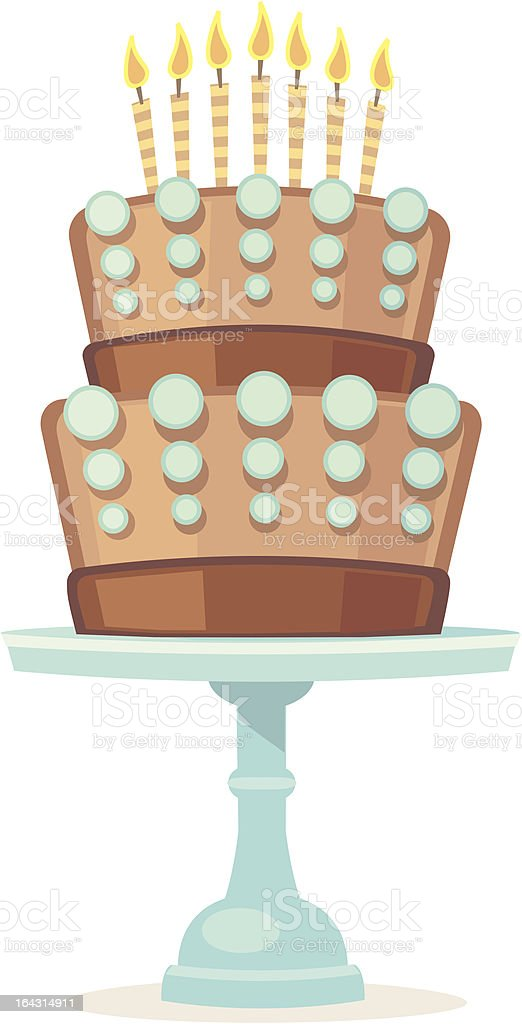 Cake! vector art illustration