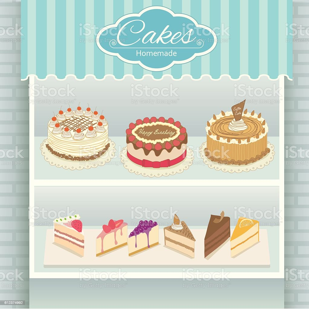cakes cyan cafe royalty free stock vector art - Cyan Cafe Interior