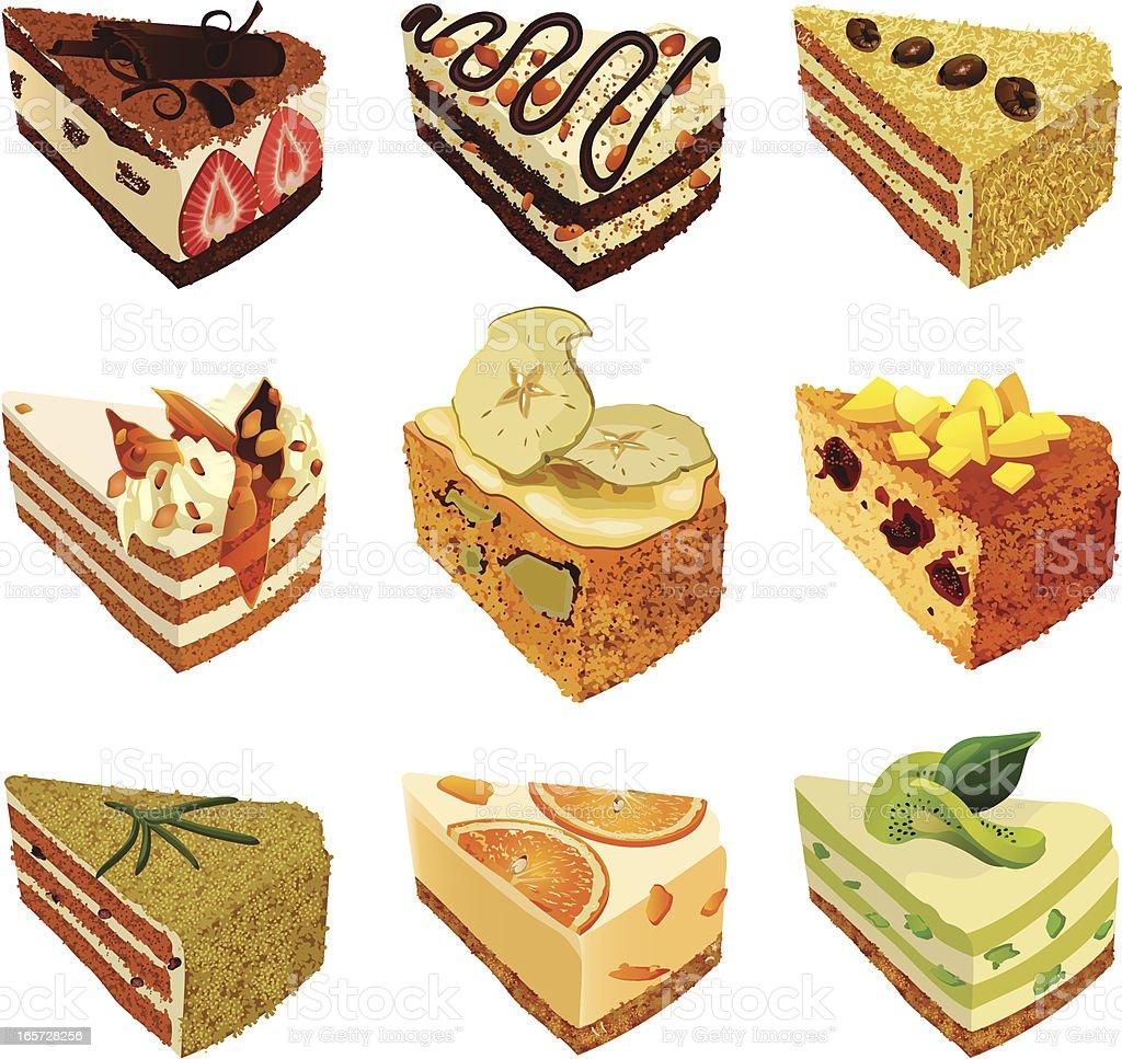 Cakes vector art illustration